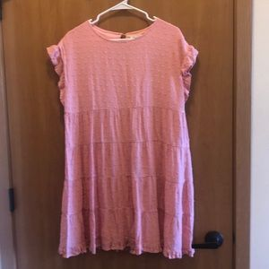 Francesca's dress size medium light pink flutter